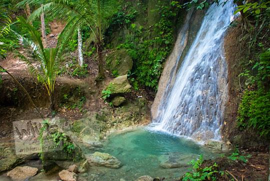 suasana indah pemandangan curug air terjun grojogan pucung seloharjo pundong bantul yogyakarta pada zaman dulu