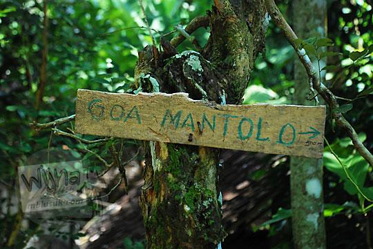 rute panduan petunjuk arah ke gua mantolo dekat grojogan pucung seloharjo pundong bantul yogyakarta