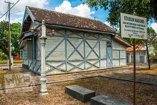 tampak belakang stasiun maguwo lama