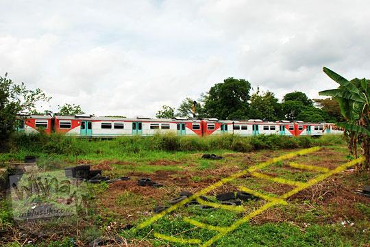 ladang bekas jalur kereta api staatsspoorwegen arah ke stasiun maguwo lama