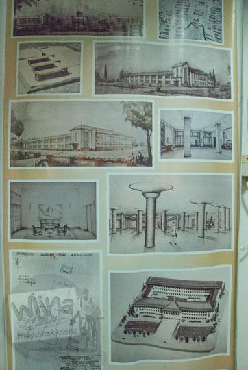 gambar rancangan sketsa gedung pusat balairung Universitas Gadjah Mada Yogyakarta yang dibuat oleh presiden soekarno