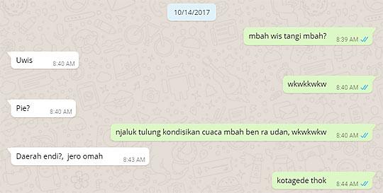 chat whatsapp cerita hal-hal mistis sepuatar kotagede