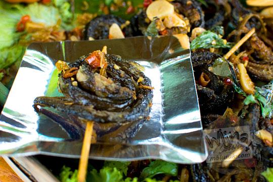 resep sate belut lilit makanan raja mataram kuno