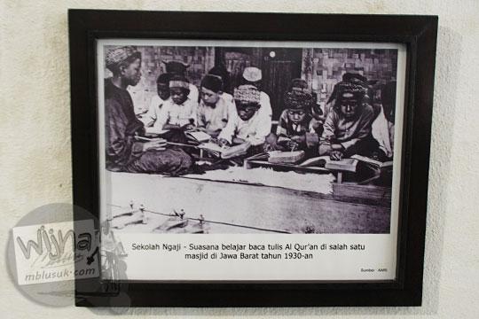 foto anak-anak mengaji zaman belanda koleksi museum pendidikan indonesia di UNY