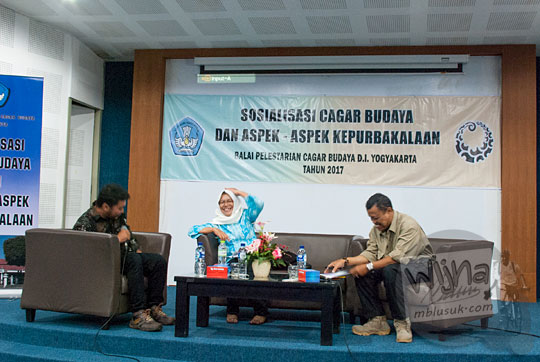 Acara talkshow Sosialisasi Cagar Budaya dan Aspek Kepurbakalaan di UNY bersama BPCB Yogyakarta dan Komunitas Malam Museum