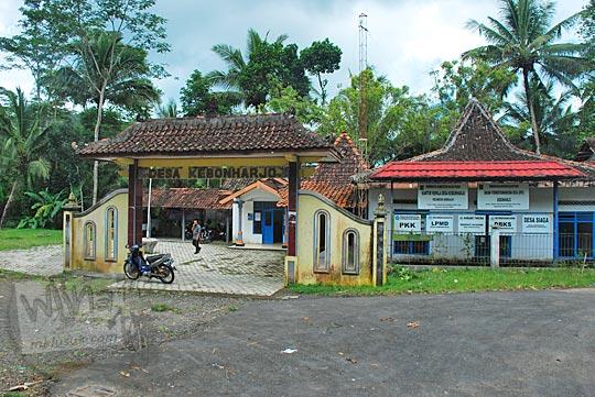 pemandangan depan kantor kepala desa kebonharjo samigaluh