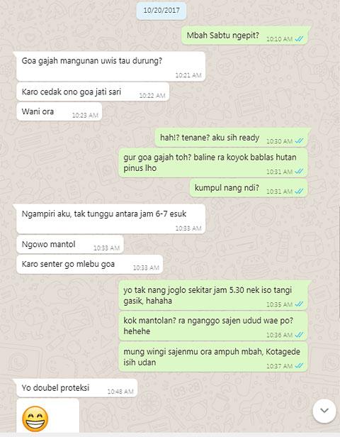 chat whatsapp dengan bayu indratomo ki ageng sekar jagad