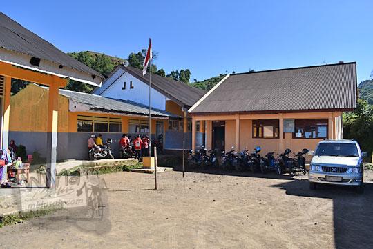 tampak depan bangunan sd negeri sembungan di desa sembungan kejajar wonosobo pada zaman dulu Agustus 2016