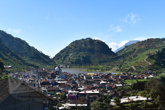 pemandangan ketinggian telaga cebongan di desa sembungan kejajar wonosobo pada zaman dulu Agustus 2016