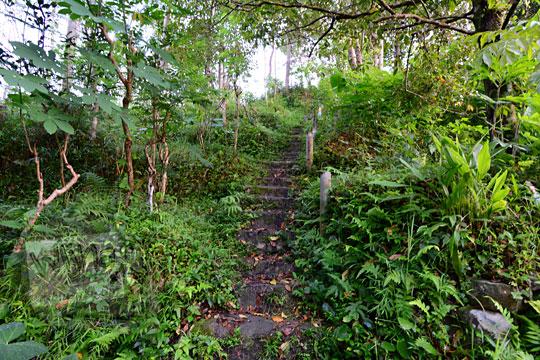 foto jalan tangga menanjak menuju ke obyek wisata pos mati di desa giritengah borobudur magelang pada maret 2018