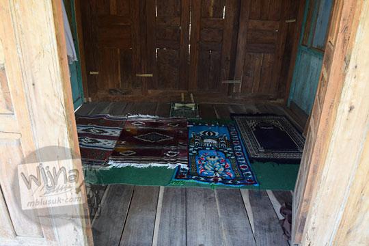 kondisi di dalam musala warung bogowonto pangenrejo pada zaman dulu Agustus 2018