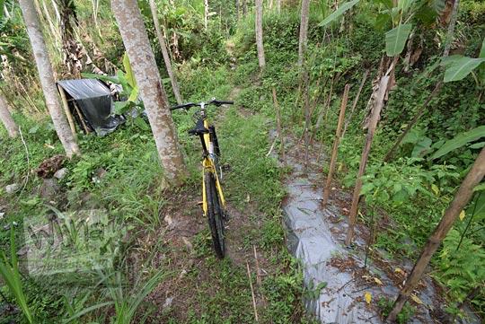 sepeda nyasar ladang cabai srumbung
