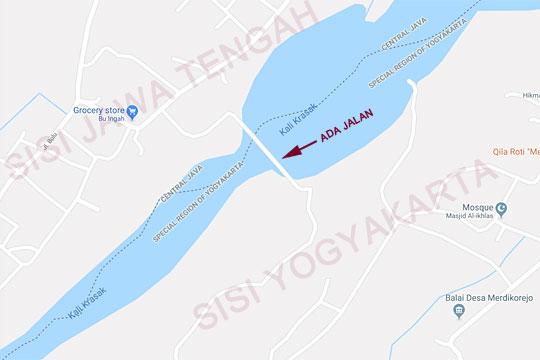 peta jalan penghubung magelang dan yogyakarta