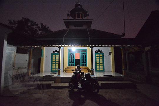 musala nurul falah di kecamatan dukun magelang jawa tengah dipotret pada saat pagi hari