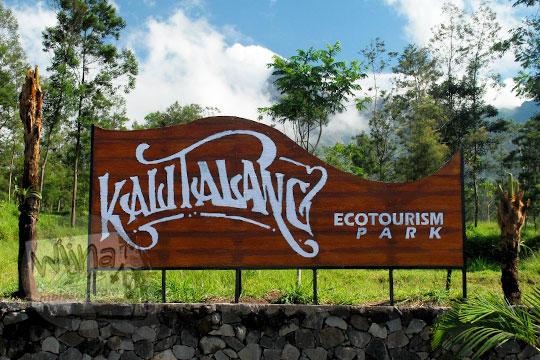 papan nama objek wisata kali talang balerante kemalang klaten jawa tengah pada zaman dulu april 2018