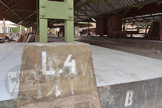 tanda nomor los di pasar kenteng nanggulan pada zaman dulu agustus 2018