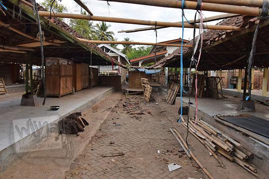 gang sepi saat renovasi pasar kenteng nanggulan pada zaman dulu agustus 2018