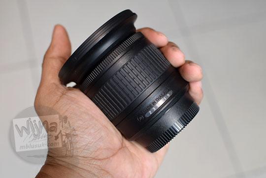 kualitas lensa wide nikon af-p 10-20 vr dx dalam genggaman