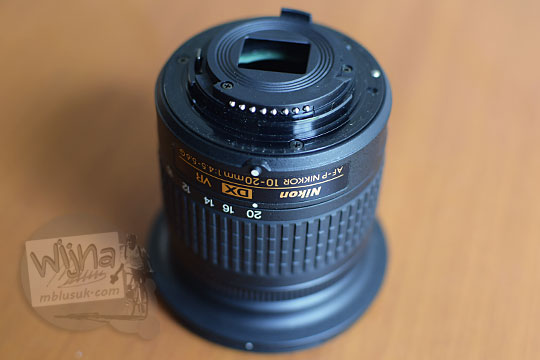 bentuk kualitas pantat lensa lensa wide nikon af-p 10-20 vr dx