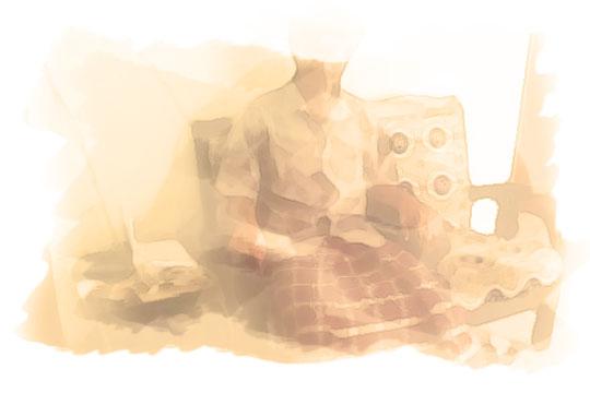 ilustrasi orang duduk pada malam sebelum nikah