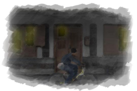 ilustrasi bersepeda malam di kotagede pada malam sebelum nikah