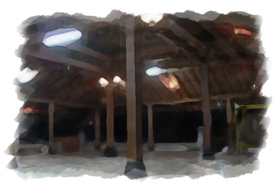 ilustrasi serambi masjid gedhe kotagede pada malam sebelum nikah