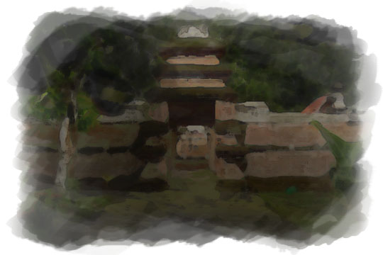 ilustrasi halaman pasarean kotagede pada malam sebelum nikah