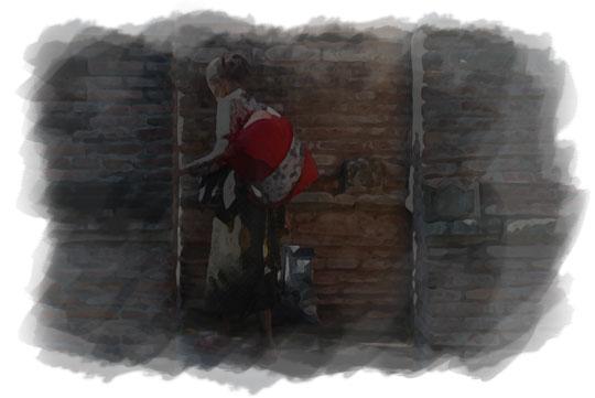 ilustrasi nenek tua menembus tembok kotagede pada malam sebelum nikah