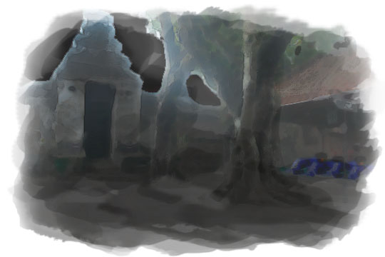 ilustrasi menyepi di gerbang makam raja-raja kotagede pada malam sebelum nikah