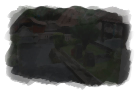 ilustrasi kondisi sendang seliran yang gelap gulita pada malam sebelum nikah