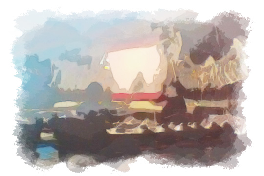 ilustrasi pagelaran wayang kotagede oleh dalang cilik pada malam sebelum nikah
