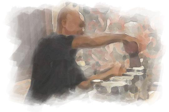 ilustrasi pemilik warung comel coffee gedongkuning pada malam sebelum nikah