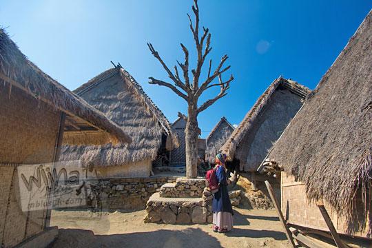 penampakan sudut pemotretan cantik di desa adat sade lombok nusa tenggara barat
