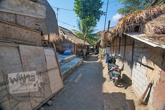gang rumah di desa adat sade lombok
