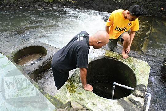 wujud mata air sumur bidadari sendang ayu petilasan  keraton gaib bathok bolu di dusun sambiroto purwomartani kalasan tahun 2018