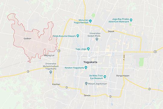 peta kecamatan godean