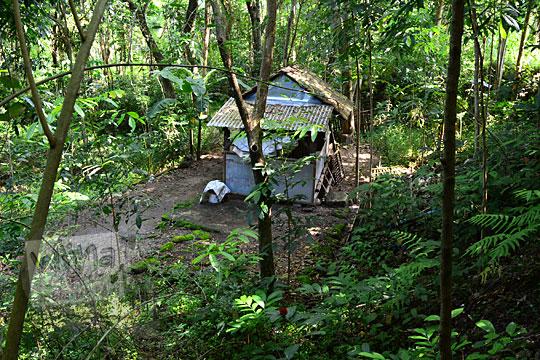bangunan pesanggrahan kiai wongso pati di dusun nglepen sumberharjo prambanan dari jauh
