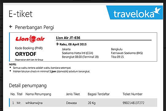 tiket pesawat lion air promo jakarta bengkulu
