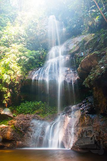 foto pemandangan indah objek wisata alam air terjun panisan di desa tanjung kecamatan koto kampar hulu riau pada zaman dulu April 2016