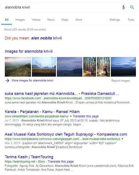 hasil pencarian biodata profil blogger bernama achmad maulana atau alan nobita kriwil-kriwil