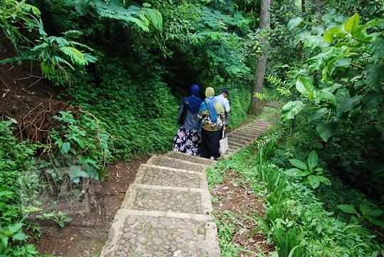anak tangga semen di taman hutan raya juanda maribaya
