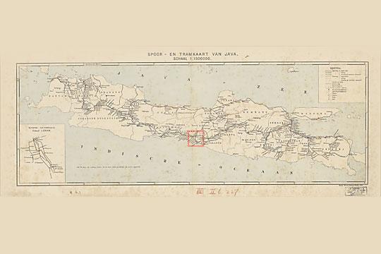 peta tua belanda jalur kereta api jawa