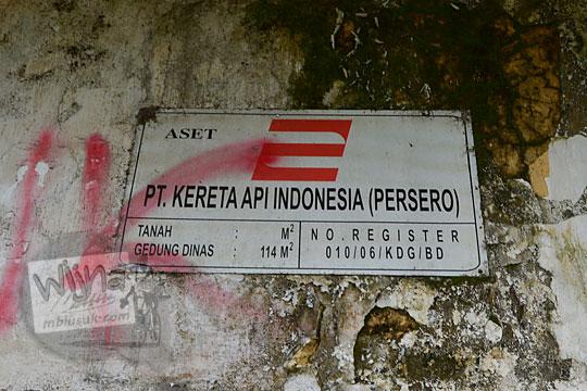 plakat aset stasiun kedundang