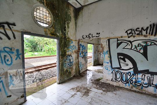 tembok ruangan kepala stasiun kedundang