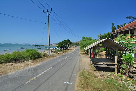 jalan pelabuhan teluk awang lombok