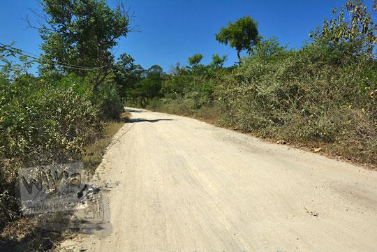jalan rusak di desa sekaroh jerowaru menuju tanjung ringgit