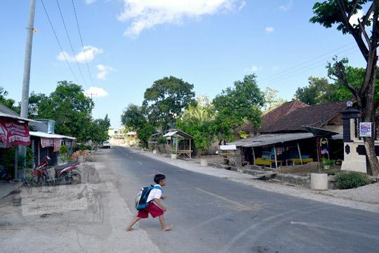 jalan raya di desa batujangkih lombok barat daya