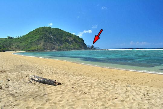 lokasi tebing air terjun di pantai nambung