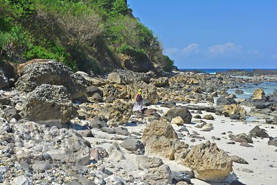 hamparan batu di pantai nambung lombok
