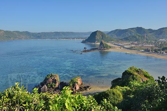 pantai seger lombok dari ketinggian